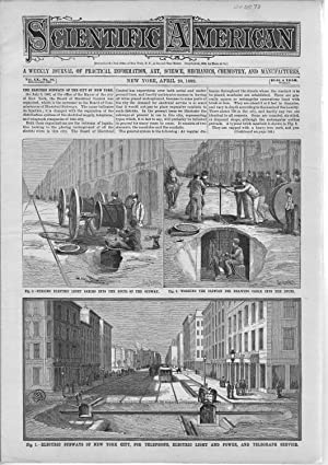 """PRINT: """"Electric Subways of New York City, for Telephone, Electric, Etc."""". from ..."""