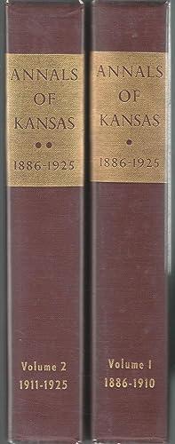 The Annals of Kansas, 1886-1925 (2 volumes): Mechem, Kirke (editor)
