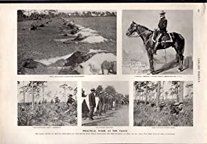 PRINT: 'Practical Work at the Front'.photos from from Leslie's Weekly, May 12, 1898: ...