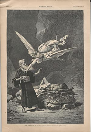 ENGRAVING: 'The Sacrifice of Isaac' .engraving from picture by Charles Sprague Pearce ...