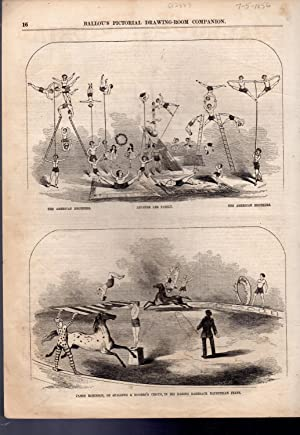 PRINT: 'Spaulding & Roger's Circus'. engravings from Ballou's Pictorial, July 5...