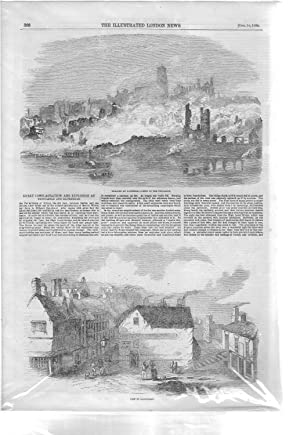 ENGRAVING: 'The Great Fires, At Newcastle &: Il;lustrated London News