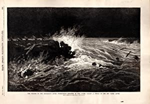 ENGRAVING: 'The Floods in the Mississippi River'. engraving from Frank Leslie's ...