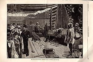 PRINT:'The Cincinnati Industrial Exposition'.engraving from Harper's Weekly, September ...
