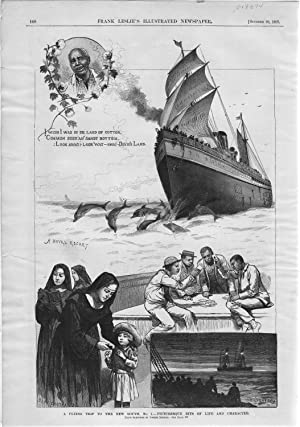 "ENGRAVING: ""A Flying Trip to the New South"". engraving from Frank Leslie's ..."