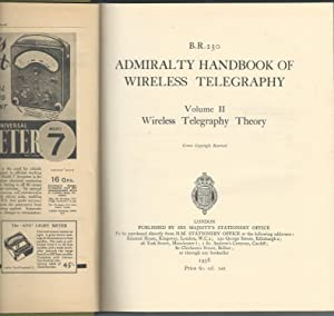 Admiralty Handbook of Wireless Telegraphy (2 vols): Unknown