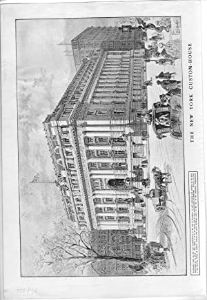 "ENGRAVING: ""The New York Customs-House"" .engraving from Harper's Weekly, January 11,..."