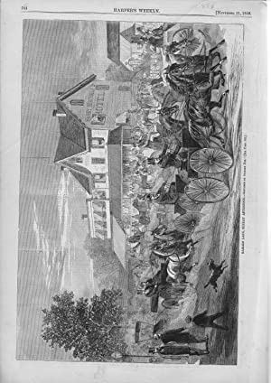 "ENGRAVING: ""Harlem Lane, Sunday Afternoon"". engraving from Harper's Weekly, November..."
