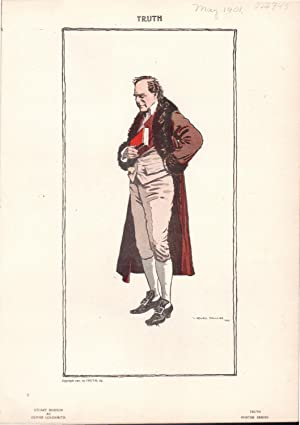 "PRINT: ""Stuart Robson as Oliver Goldsmith"".colored lithograph from Truth Magazine, May, ..."