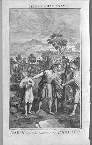 """ENGRAVING: """"Joseph Sold by his Brothers to the Ishmaelites """".full page engraving from ..."""