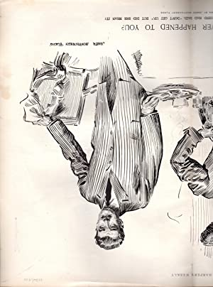 ENGRAVING:'Has This Ever Happened to You' .engraving from Harper's Weekly, December 26,...