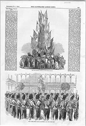 """PRINT:""""The Crystal Palace Fete"""". Text and Two: Illustrated London News"""