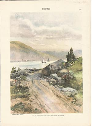 "Lithograph Print: ""'View of 'Anthony's Nose: from West Shore of Hudson"".color ..."