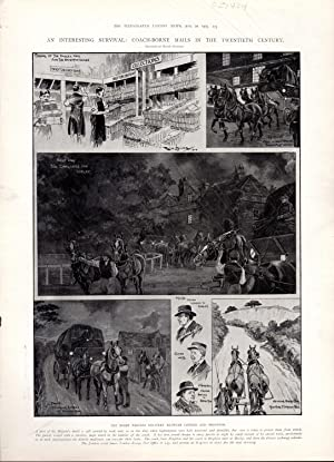 ENGRAVING: 'An Interesting Survival: Coach-born Mails'-engraving from the Illustrated ...
