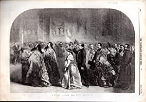 """ENGRAVING: """"A Russian Marriage, Near Moscow"""". engraving: Illustrated London News"""