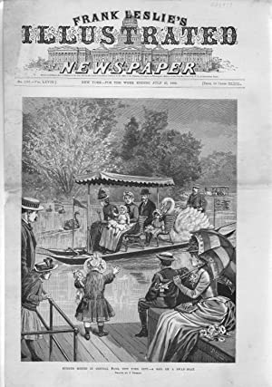 PRINT: 'Summer Scenes in Central Park, New York City'.from Frank Leslie's ...