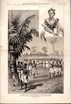 "ENGRavING: ""Difficulties in Samoa Fomented by German Interference"".from Frank Leslie&#x27..."