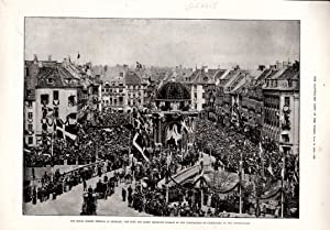 PRINT: 'The Royal Golden Wedding in Denmark'. engraving from The Illustrated News of the ...