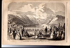 PRINT:'The Prince of Wales at West Point'.3 engravings on 2 pages from Harper's Weekly,...