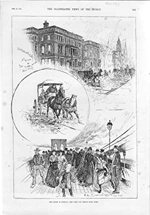 PRINT: 'Our Artist in America: New York City People Going Home' '.from The Illustrated ...