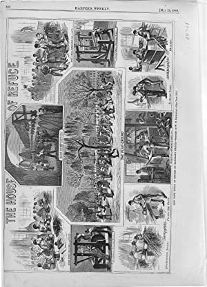 ENGRAVING: 'The House of Refuge'.engraving from Harper's Weekly, May 23, 1868: ...