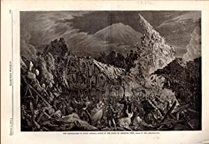 ENGRAVING: 'The Earthquakes in south America'.engraving from Harper's Weekly, October 3...