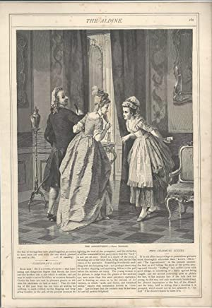 "ENGRAVING: ""The Appointment"".wood engraving from The Aldine,: The Aldine, The"