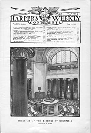 ENGRAVING:' Interior of the Library at Columbia'. engraving from Harper's Weekly, ...