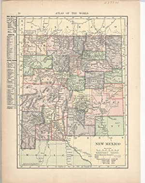 Hammonds new world atlas first edition abebooks map new mexico colorado on reverseom hammonds hammond gumiabroncs Image collections