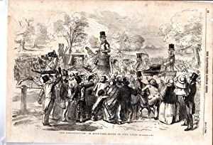 """ENGRAVING: """"The Demonstration in Hyde-Park"""".engraving from The Illustrated London News, ..."""