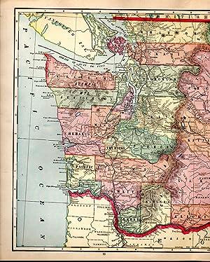 MAP:'Washington'.From Cram's Superior Reference Atlas of Kansas: Cram, George F
