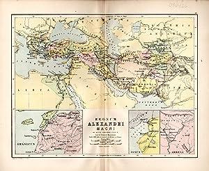MAP: 'Regnum Alexandri Magni'.from Ginn & Heath's Classical Atlas, 1882: Johnson, ...