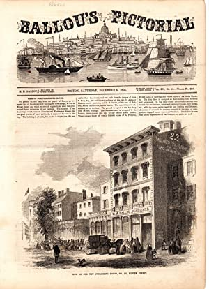 "PRINT: ""View of Our New Publishing House"".text & engraving from Ballou's ..."