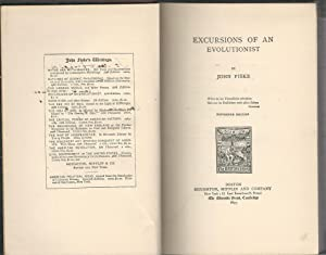 Excursions of an Evolutionist: Fiske, John