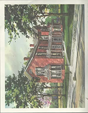 """PRINT: """"Limited Editions Prints of Historic Fremont"""" (Ohio): Chapman, Walter"""