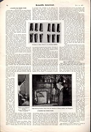 "PRINT: ""A Machine That Smokes Cigars"" .story & photos from Scientific American, July ..."