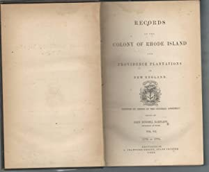 Records of the Colony of Rhode Island and Providence Plantations in New England, Volume VII, 1770...