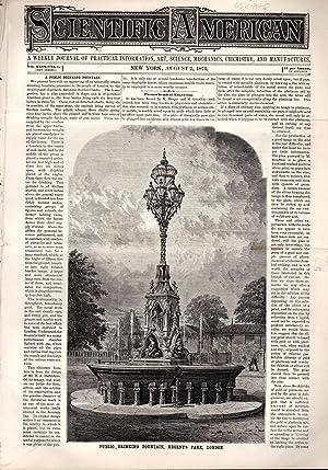 Scientific American, August 2, 1873, Volume XXIX, No.5: Scientific American