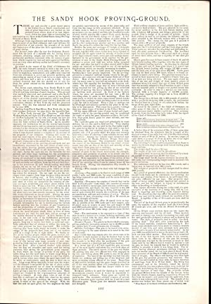 "PRINT:""The Sandy Hook Proving-Ground"" .story & photoengravings from Harper's Weekly..."