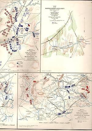 MAP:7 Sections Including Cavalry Brigade, Cedar Mountain, Bull Run, Manassas, Virginia, Etc: United...