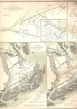 MAP:10 Section Map, Including Engagement of Secessinville, James Island, South Carolina; Catlett&#...
