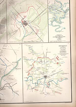MAP: 7 Section Map, Including Decherd, Jasper, Tullahoma, Chattanoog, Duckport and Shelbyville, ...