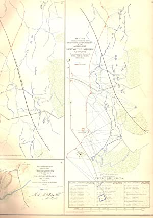 MAP: 4 Section Map, Including Artillery Positions Of the Army of the Potomac, Reconnaissance Beyond...