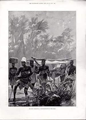 """ENGRAVING:""""The Benin Expedition: A Trader REturns to the Coast' .engraving from The ..."""