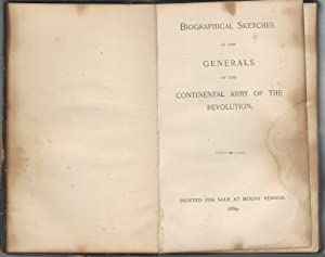 Biographical Sketches of the Generals of the Continental Army of the Revolution: Unknown) Leiter, ...
