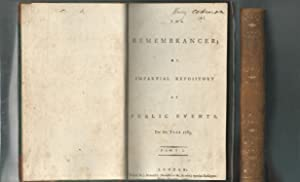 The Remembrancer, or Impartial Repository of Public Events for the Year 1783 (2 volumes): Unknown