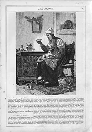 """ENGRAVING: """"The Fishwife of Marken"""".engraving from The Aldine Magazine, April, 1874: The ..."""