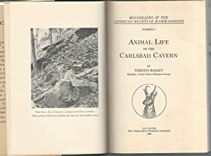 Animal Life of the Carlsbad Cavern (Monographs of the American Society of Mammalogists Series, ...