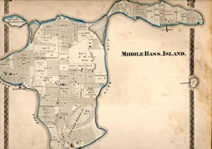 """MAP: """"Middle Bass, Island (Lake Erie, Ohio)"""".from Illustrated Historical Atlas of Ottawa ..."""