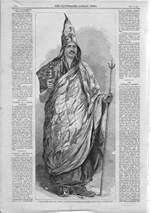 "PRINT:""A Lama of Tibet, of the Dalai Sect "".story and Engravings from The Illustrated ..."